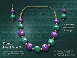mardi gras earrings second marketplace ssd frills pitanga jewelry set