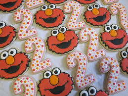 sesame decorations sesame elmo and number decorated sugar cookies collection