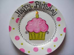 personalized birthday plate pink cupcake birthday plate birthday plate personalised