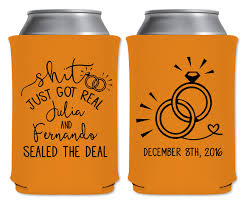 wedding can koozies just got real 1b neoprene coolers wedding favors that