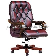 wooden arms luxe en cuir chaise de bureau rf b009 buy product on
