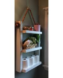 Bathroom Storage Racks Savings On Rope Hanging Shelf Wooden Ladder Shelf Storage