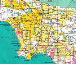 Map Of La Area Los Angeles Map Toursmaps Com