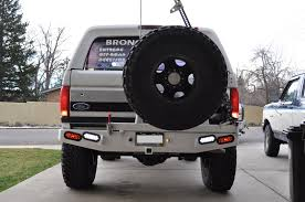 jeep bronco white broncoair extreme duty rear bumper 80 96
