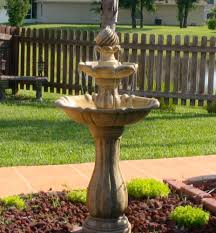 solar garden fountain home outdoor decoration