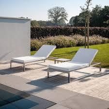 fueradentro siesta garden sun lounger large modern sun lounger