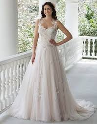 floor length off the shoulder jeweled tulle wedding dress with