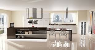 Kitchen Island With Attached Table Plain Decoration Island Dining Table Stylish Design Dining Table