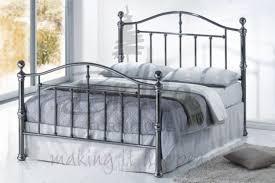 King Size Metal Bed Frames Birlea 5ft Kingsize Black Nickel Metal Bed Frame By Birlea
