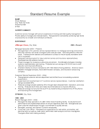 Customer Service Supervisor Resume Samples by Standard Resume Sample Free Resume Example And Writing Download