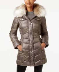 laundry design coat laundry by design faux fur trim hooded puffer coat coats women