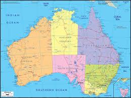 map of australia political australia political wall map maps