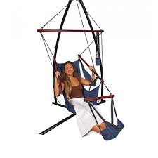 purchase a canvas hammock chair with foot rest and drink holder today
