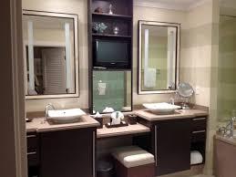 Contemporary Makeup Vanity Bathrooms Design Double Sink Makeup Vanity Modern Bathroom With