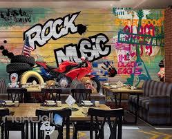 3d colorful graffiti board rock music wheel motor wall murals 3d colorful graffiti board rock music wheel motor wall murals wallpaper art decals decor idcwp