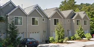 townhouse plans row house plans with garage sloping lot plans