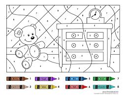 Number Worksheets Color By Number Worksheets Preschool 3793 Plaa Co