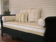 twin size outdoor mattress cover for your porch swing or daybed