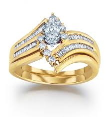 wedding ring sets for women yellow gold wedding ring sets for women