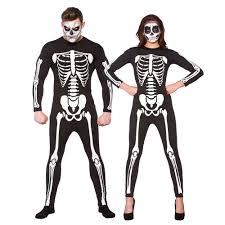 Skeleton Halloween Costume by Skeleton Bodysuit Adults Halloween Fancy Dress Jumpsuit Mens