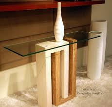 Marble Entry Table Marble Console Table Travertine And Tempered Glass Bellagio