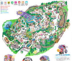 6 Flags Map Six Flags Map Usa At Great America Park Roundtripticket Me