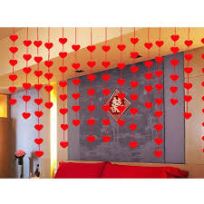 Valentine S Day Decorations And Supplies by Aliexpress Com Buy 16pcs Hanging Red Heart String Valentines Day