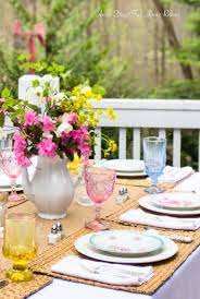 Table Scapes Far Above Rubies 9 Beautiful Spring Tablescapes And More
