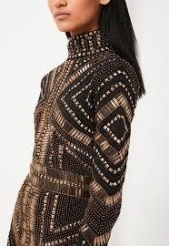 embellished dress peace black embellished mini dress missguided