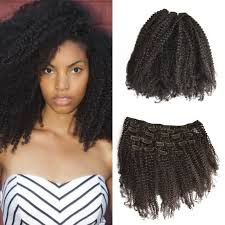 euronext hair extensions 4a 4b 4c mongolian afro curly clip in hair extensions