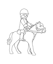 Playmobil sur un cheval à colorier  A partir de la galerie