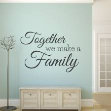 wall decals stickers home decor home furniture diy wall quotes vinyl decal family decal stickers together we make a family