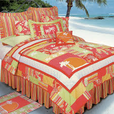 Beach Theme Quilt Tropical Comforters Quilts Bedspread Bedding Touch Of Class