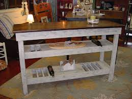 custom wine bar buffet table and restored antique bench just