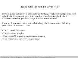 Hedge Fund Resume Sample by Hedge Fund Accountant Cover Letter