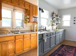 golden oak kitchen cabinets paint colors before afters gray looks
