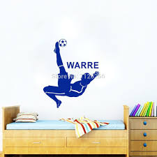 bicycle decals page black friday personalized soccer man wall decal customer made name bicycle kick vinyl sticker for boys men room decoration