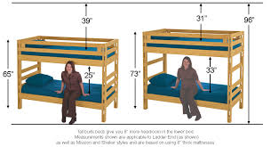Solid Wood Bunk Beds Made In Canada Twin Full Queen Sizes - Twin bunk bed dimensions
