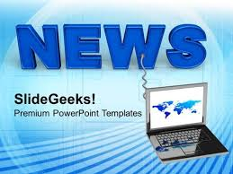 online news internet technology powerpoint templates ppt
