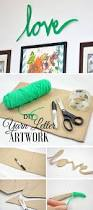 Letter Home Decor by Best 25 Yarn Letters Ideas Only On Pinterest String Letters
