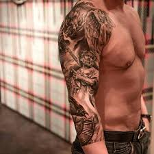 collection of 25 warrior sleeve tattoos for