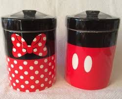 Red Kitchen Canisters Set by Mickey Mouse Minnie Mouse Signature Kitchen Canister Set Disney
