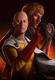 one punch man one punch man saitama and genos by sixfrid on deviantart