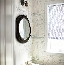 nautical mirror bathroom porthole mirrors for nautical homes beachfront decor