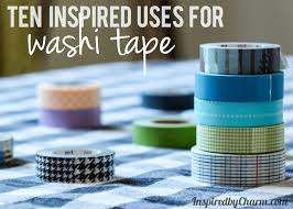 10 inspired uses for washi tape link up party inspired by charm