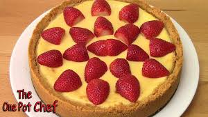 Lemon Cheesecake Decoration New York Baked Cheesecake One Pot Chef Youtube