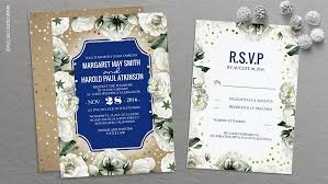 wedding invitations gold and white read more white floral navy and gold confetti wedding invites