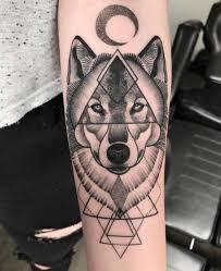 wolf dotwork geometric by nr studio