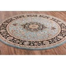 light blue round area rug vintage oushak blue 6 ft x 6 ft round area rug round area rugs