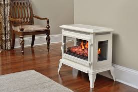 Infrared Electric Fireplace Comfort Smart Jackson Cream Infrared Electric Fireplace Stove With